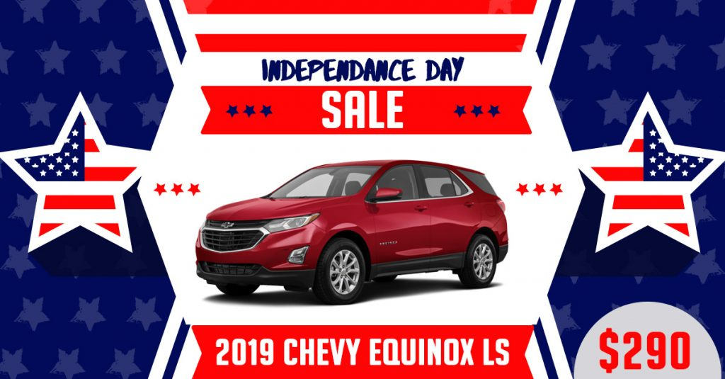 2019 Chevy Equinox Fourth of july lease deal