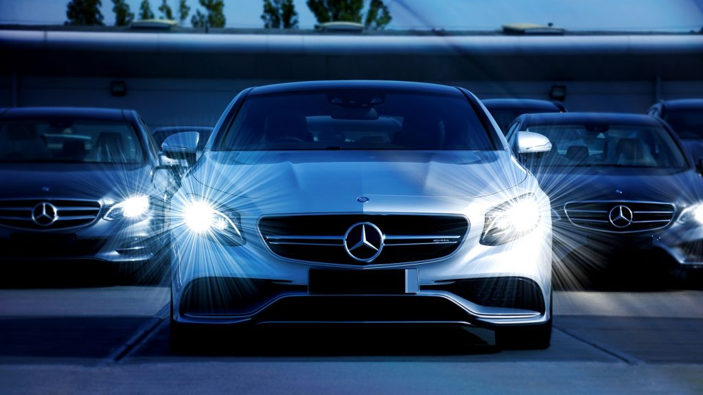 new mercedes benz in lot